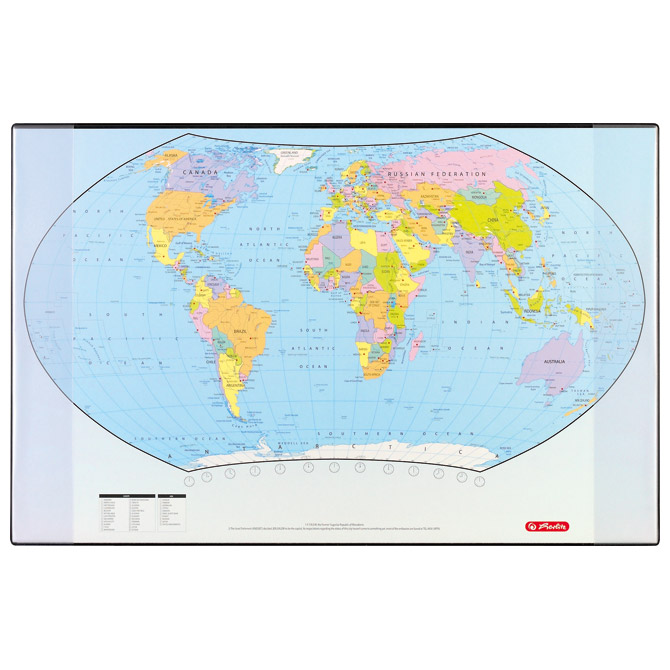 Karta Svijeta 68x44 stolna Herlitz 5552203
