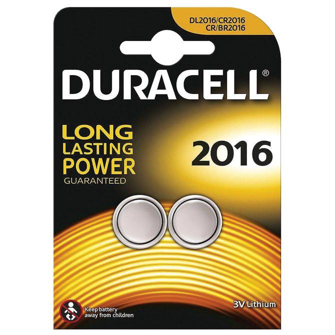 Baterija litij dugmasta 3V pk2 Duracell 2016 blister