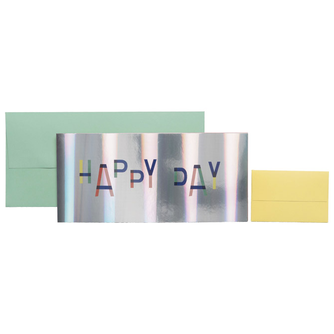 Čestitka 11x23cm Happy day Stewo 5725 75 blister
