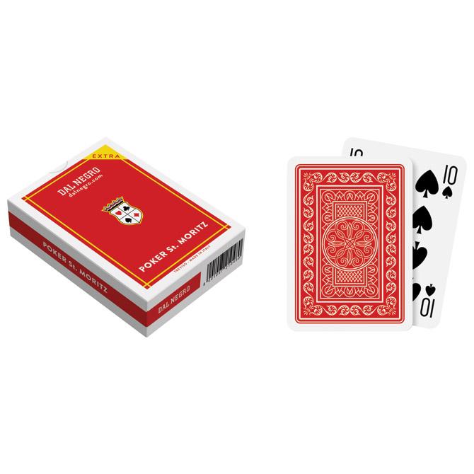 Karte igraće za poker St.Moritz extra - Dal Negro crvene