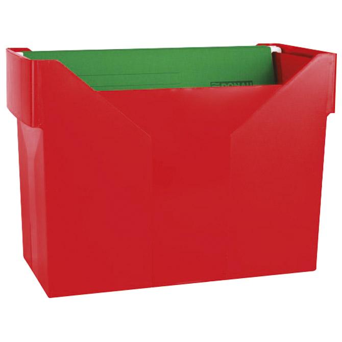 Kutija za mape viseće+5mapa Donau 7422001PL-04 crvena