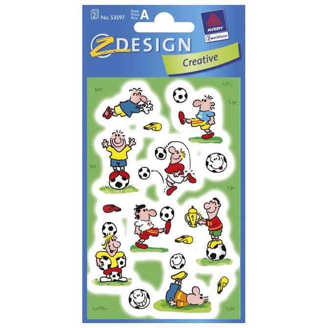 Naljepnice dječje papir nogomet pk3 Zweckform 53597 blister!!
