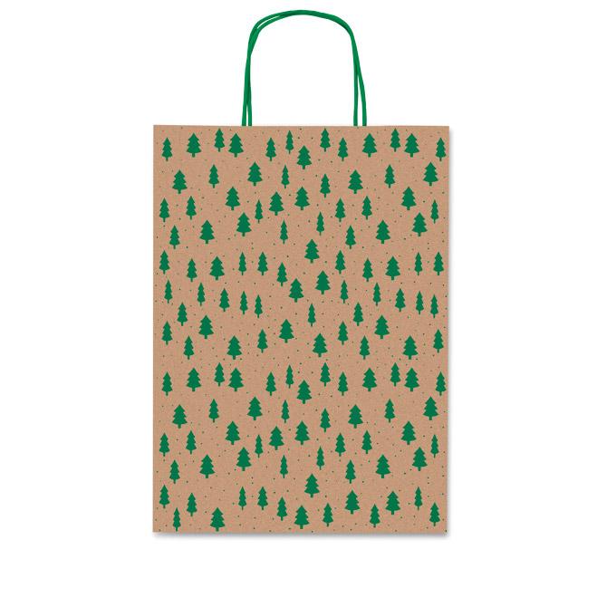Vrećice ukrasne 26x36x12cm novogodišnje-bor Rex-Saul Sadoch SDF26-254D smeđa/zelena