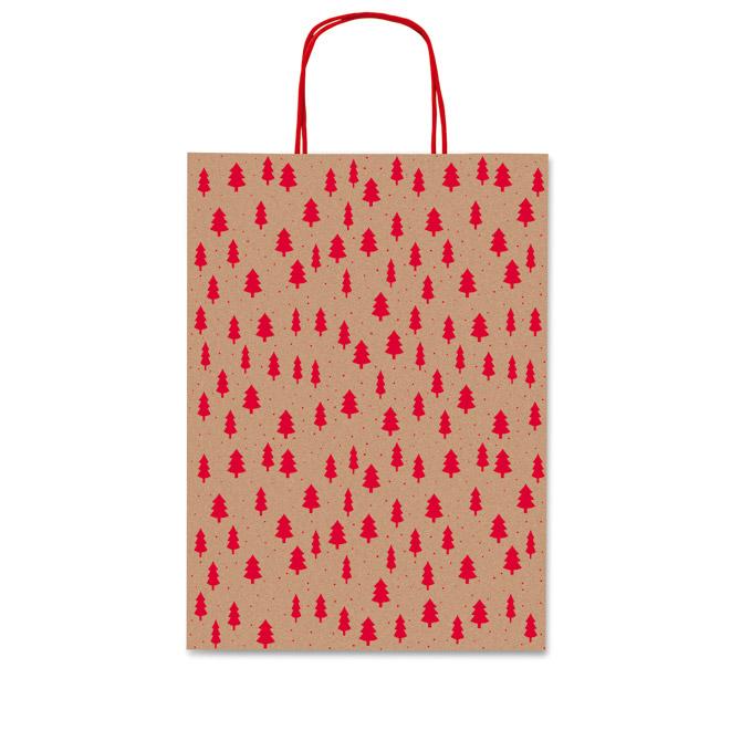 Vrećice ukrasne 36x41x12cm novogodišnje-bor Rex-Saul Sadoch SDF36-253D smeđa/crvena