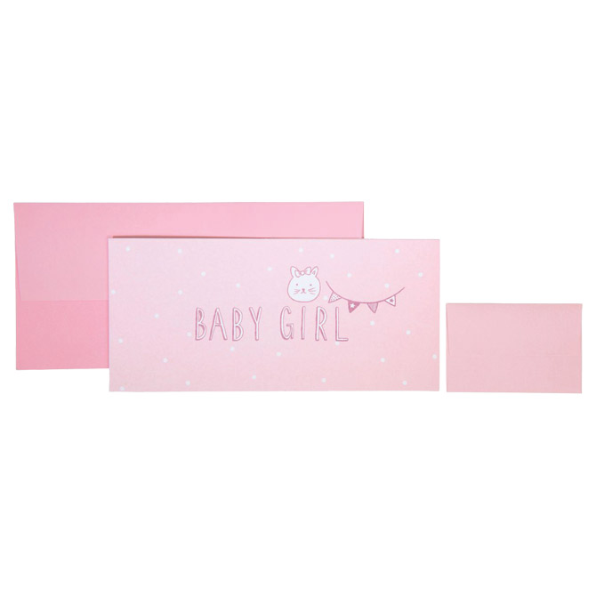 Čestitka 11x23cm Baby girl Stewo 5616 25 blister